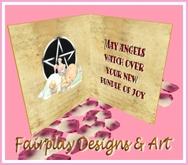 ~FDA~ Goth Bundle of Joy Greeting Card~