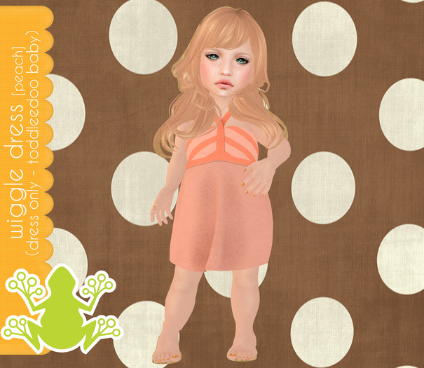 tadpole.~  Wiggle Dressie [Peach] for TODDLEEDOO BABY