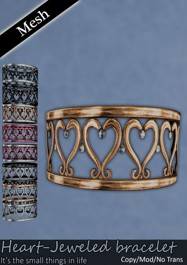 .HalfMagic. - Heart-Jeweled Bracelet