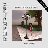Street Lamp Deco Black - Copy Version (100% Mesh)