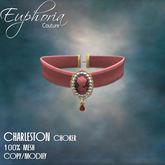 EC - Charleston - Cameo Choker - Coral