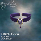 EC - Charleston - Cameo Choker - Purple