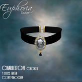 EC - Charleston - Cameo Choker - Black