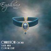 EC - Charleston - Cameo Choker - Blue