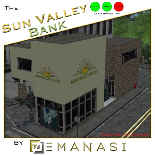 Sun Valley Bank by Demanasi - 100% Mesh