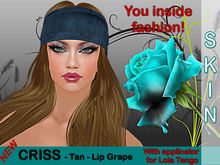 *ZStore* SKIN CRISS - Tan - Lip Grape + Applier Lola Tango