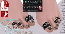 :Diamante: Edge Toe Rings - SLink Mid Feet