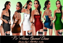 *P.c* Atena Opened Dress {Black}