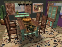 SQ Farmhouse Dining Table and Chairs