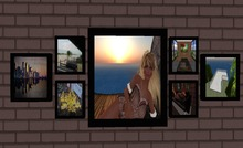 7 framed pictures, WOW ONLY ONE 1 low PRIM MESH Picture frame, ONE PRIM seven photo frame custom with your art, low prim