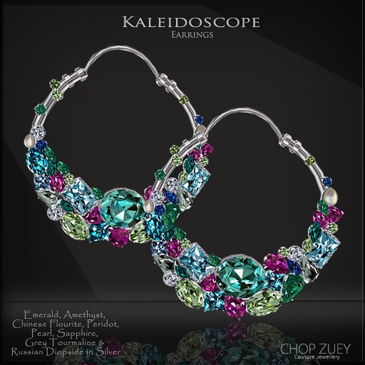 Kaleidoscope Earrings by Chop Zuey Couture Jewellery
