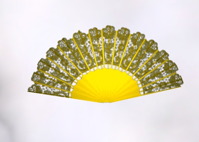 Gold Animated Lace Fan