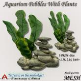 FULL PERM FC- Aquarium Pebbles With Plants  full perm 1  prim