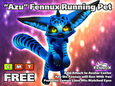 Fennux - Blue Tiger - Running Pet for Avatar Center