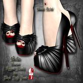 ~Black Arts~ Bella Pumps Black for Slink High Feet