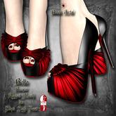~Black Arts~ Bella Pumps Red for Slink High Feet