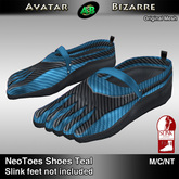 AB SLINK Neo Toes Shoes Teal
