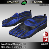AB SLINK Neo Toes Shoes Blue