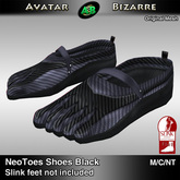 AB SLINK Neo Toes Shoes Black