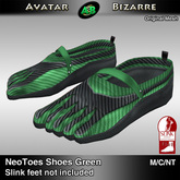 AB SLINK Neo Toes Shoes Green