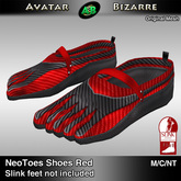 AB SLINK Neo Toes Shoes Red
