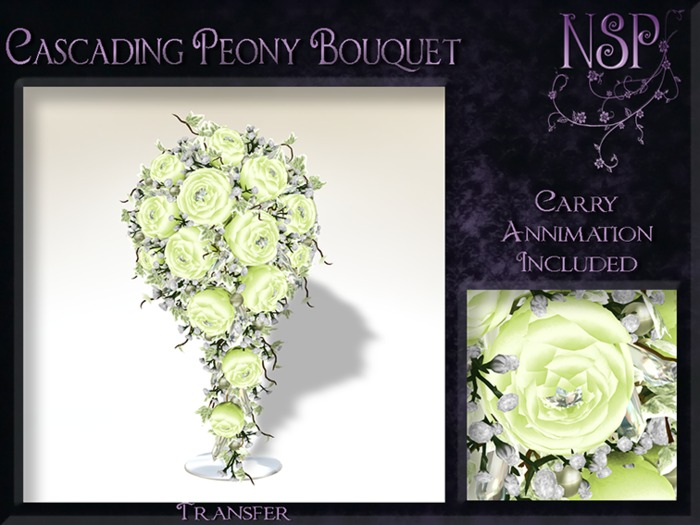 NSP Cascading Peony bouquet (Meadow Green) bagged