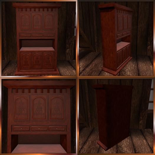 Antique Mahogany Cupboard. Mesh
