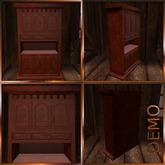 Antique Mahogany Cupboard. Mesh. DEMO