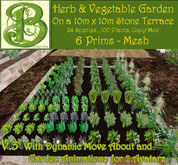 Instant Vegetable Garden. 21 Prims, 80 Plants