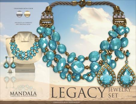 [MANDALA]LEGACY Jewelry set_Oasis