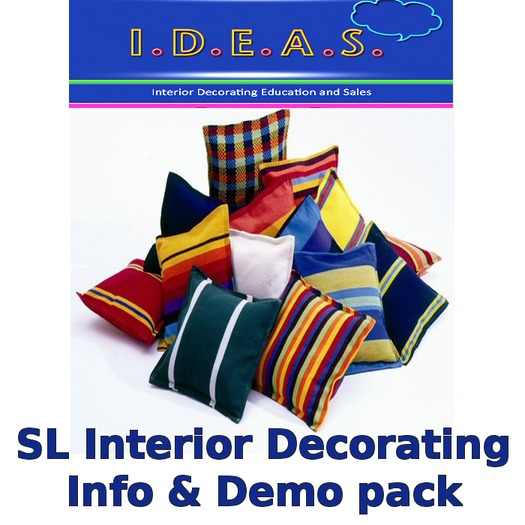 Second Life Marketplace Interior Decorating Course Demo Pack
