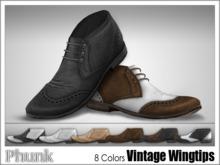 [Phunk] Mesh Vintage Wingtip Shoes (8 Colors)