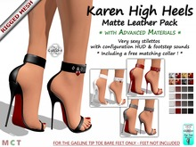 Gaeline Shoes - Karen High Heels DEMO - Matte Leather Pack : Just so fashionable and sexy !