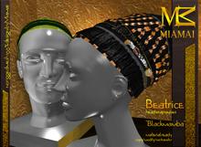 Miamai_Beatrice headwrap - luxe - black mamba