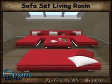 Sofa Set Living Room Berlin red