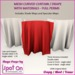 Spot On Curved Curtain / Drape w/ Materials Full Perm