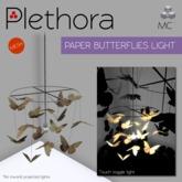 Plethora - Paper Butterflies Light