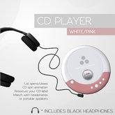 Plethora - CD Player - White/Pink