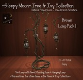 ~Sleepy Moon~ Tree & Ivy Collection - Lamp Pack 1 BROWN