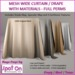 Spot On Mesh Wide Curtain / Drape - Materials - Full Perm