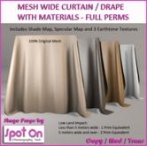 Spot On Mesh Wide Curtain / Drape - Materials - Full Perm