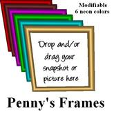 Penny's Picture Frames - 6 neon colors