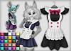 Kemono maid dress   25 colors2