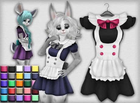 Kemono Maid Dress - 3 Chest Sizes - 25 Colors