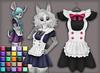 Kemono maid dress   25 colors