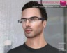MI960025 Square Glass Half Frame Glasses