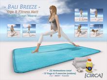 """[CIRCA] - """"Bali Breeze"""" Yoga/Fitness Matt - Bright Ocean"""