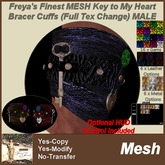 Freya's Finest MESH Key To My Heart Bracers Male - Full Texture Change