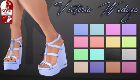 .S&C. Victoria Wedges - Marshmallow for Slink Mid Feet