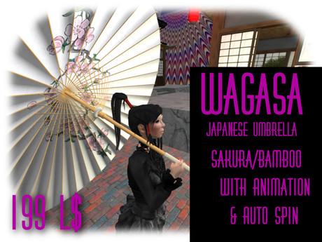 Wagasa (Japanese Umbrella) Bamboo Sakura